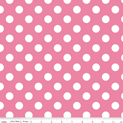 "Medium Dot Wideback 108"" WB360-70 Hot Pink by Riley Blake"