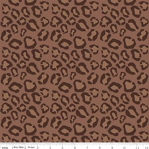 Wild Thing C523-90 Brown Leopard by Riley Blake