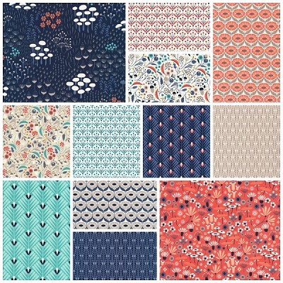 Wildwood Organic 12 Fat Quarter Set by Cloud 9