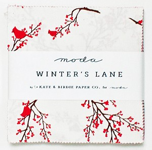 Winter's Lane Charm Pack by Kate & Birdie for Moda
