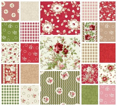 With All My Heart 23 Fat Quarter Set by Gerri Robinson for Red Rooster