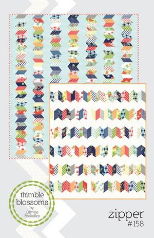 Zipper Quilt Pattern by Thimble Blossoms