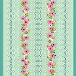 Mustang 0001-001 Rose Border by Melody Miller for Cotton + Steel