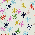 Playful 0011-1 Multi/Natural Jacks by Melody Miller for Cotton + Steel