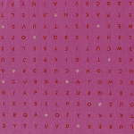 Playful 0014-2 Pink Word Find by Melody Miller for Cotton + Steel