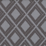 Simply Color 10806-13 Graphite Grey Ikat Diamonds by V & Co for Moda