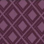 Simply Color 10806-15 Eggplant Ikat Diamonds by V & Co for Moda EOB