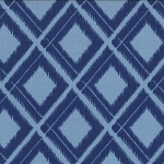 Simply Color 10806-20 Navy Blue Ikat Diamonds by V & Co for Moda
