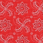 Fancy 11493-17 Winterberry Red Twirl by Lily Ashbury for Moda