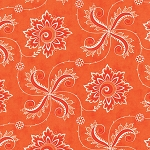 Fancy 11493-19 Orange Spice Twirl by Lily Ashbury for Moda