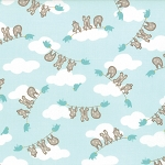 Storybook 13113-15 Aqua Clothesline by Kate & Birdie for Moda