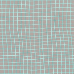 Moonlit 1905-001 Aqua On the Grid by Cotton + Steel