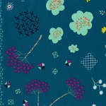 Mochi LAWN 1916-21 Teal Mochi Floral by Cotton + Steel