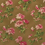 Incarnadine 1993-004 Brown Lg Floral by Robyn Pandolph for RJR