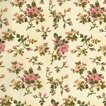 Incarnadine 1995-001 Cream Small Floral by Robyn Pandolph for RJR