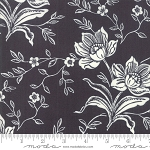 All Hallows Eve 20350-13 Midnight Woodblock Floral by Fig Tree for Moda