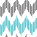 Design Studio Collection 2140506-1 Blue Pinstripe Chevron by Camelot