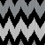 Design Studio Collection 2140506-3 Black Pinstripe Chevron by Camelot
