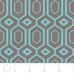 Cove 2141401-3 Grey & Tide Hexagons by Camelot Fabrics