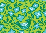 Sundborn Garden 25023 Green Bird Floral by Red Rooster