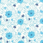 Paradiso 27202-13 Pearl Blue Camellia by Kate Spain for Moda