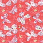 Aria 27230-11 Begonia Butterfly by Kate Spain for Moda