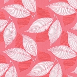 Aria 27233-11 Begonia Leaflet by Kate Spain for Moda