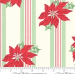 Sweet Christmas 31150-11 Marzipan Poinsettia Stripe by Moda