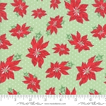 Sweet Christmas 31151-14 Spearmint Poinsettia by Urban Chiks for Moda