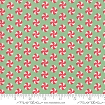 Sweet Christmas 31154-19 Spearmint Peppermint Polka Dot by Moda