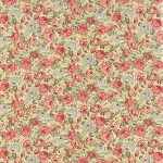 Roses & Chocolate 32922-11 Ivory Packed Floral by Moda EOB