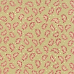 Roses & Chocolate 32923-15 Sage Paisley by Moda