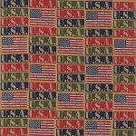 Because of the Brave 32953-11 Multi Flags by Moda