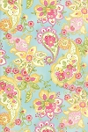 Colette 33050-12 Sky Floral Paisley by Chez Moi for Moda