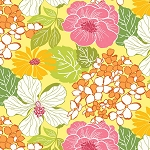Gramercy 3505-33 Yellow/Multi Gramercy by Kitty Yoshida for Benartex
