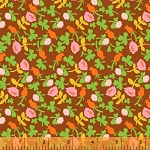 Briar Rose 37027-8 Brown Calico by Heather Ross for Windham EOB