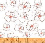 Mormor 37120-2 Coral Little Blomster by Lotta Jansdotter for Windham