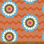 Mosaica 39561-3 Orange Floral Chevron by French Bull for Windham