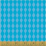 Mosaica 39563-4 Turquoise Wavy Stripe by French Bull for Windham