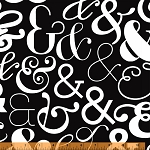 Ampersand 39743-1 Black Large Ampersand by Windham