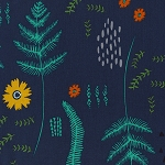 Mesa 4015-03 Navy Fern Book by Alexia Abegg for Cotton + Steel