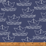 Ahoy Matey! 40154-2 Navy Boat by Whistler Studios for Windham