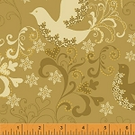 Glisten 40298M-1 Gold Metallic Doves by Whistler Studios for Windham