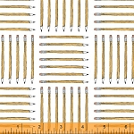 Desk Job 40653-3 White Pencils by Fierce Mally for Windham