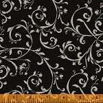 Jardin de Provence 40791-2 Black Scroll by Daphne B for Windham EOB