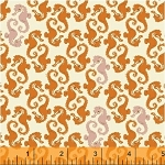 Mendocino 40941-15 Cream/Orange Sea Horses by Windham EOB