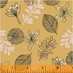 Whisper 41360-1 Butterscotch Leaves & Flowers by Windham