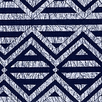 Indigo Blues 4247 Large Geometric by Henry Glass EOB
