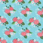 Gooseberry 5010-16 Sky Bouquet by Lella Boutique for Moda EOB