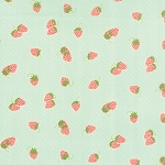 Hello Darling 55114-12 Aqua Strawberries by Moda EOB